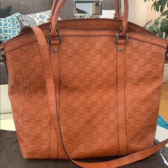992139f9646 Gucci Handbags - Authentic Gucci Guccissima Orange Handbag